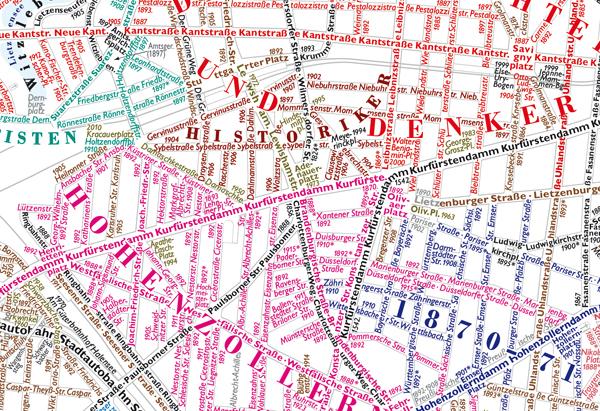 Ausschnitt des Berliner Straßennamenplans